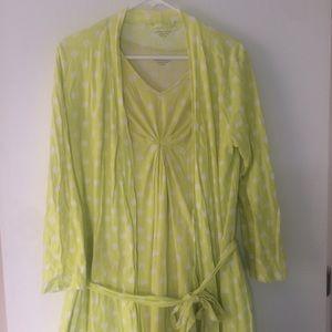 Garnet Hill polka dot dress cardigan LOT